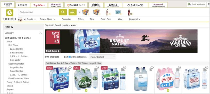 Simple Retail Digital Media banner at Ocado