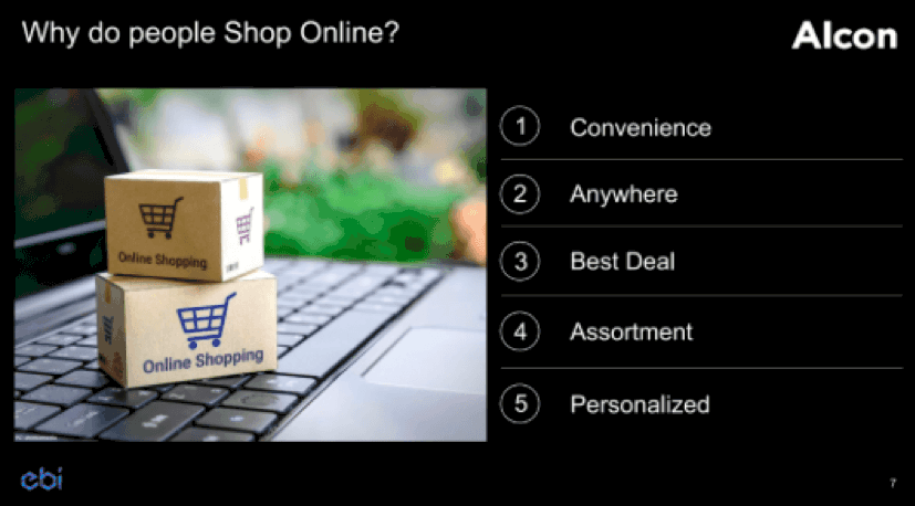 Alcon Gaze Keynote - The key reasons why people choose to shop online