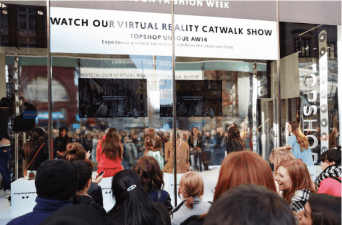 VR and AR - Topshop