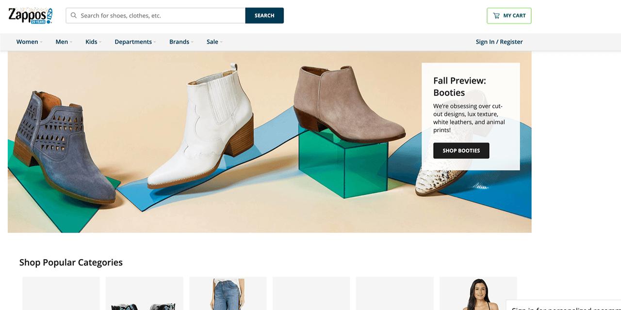 Shopper Experience Zappos Example New
