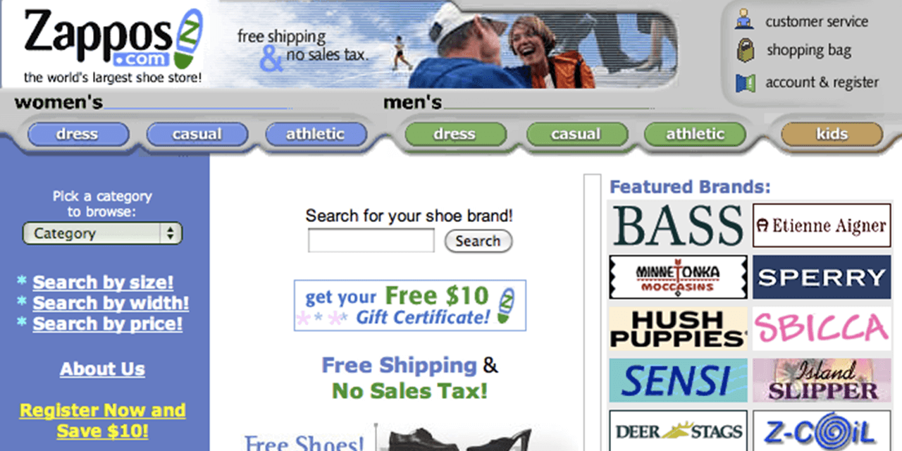 Shopper Experience Zappos Example Old