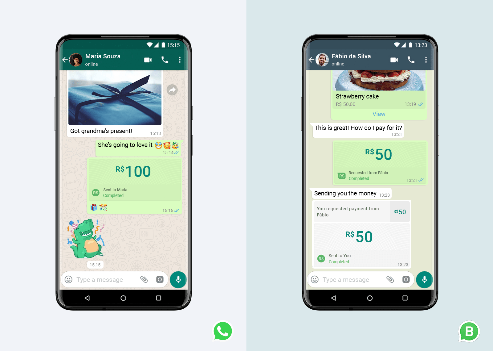 WhatsApp Pay Example 1