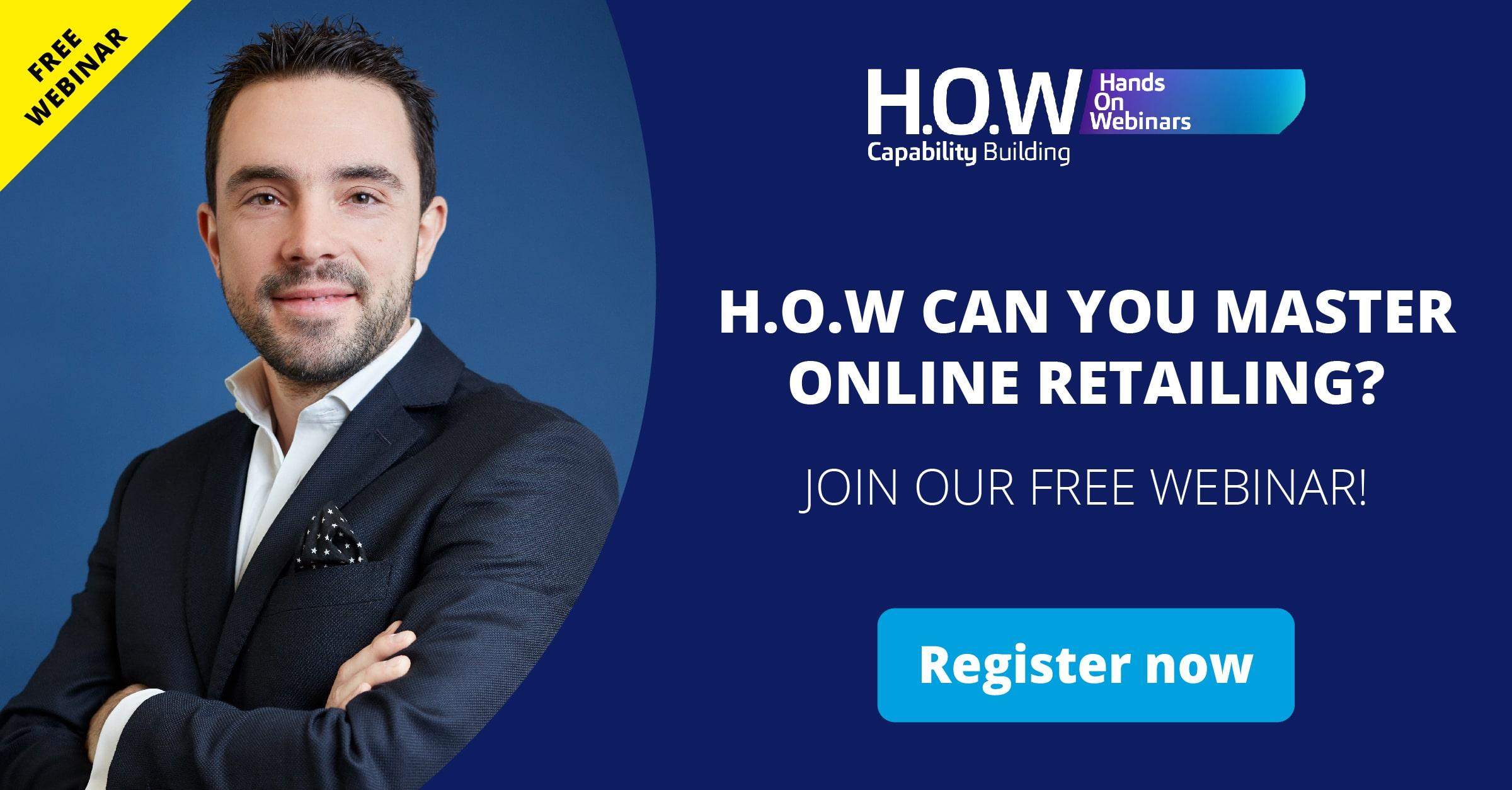 Trainer Niko Voutselas H.O.W to Master Online Retailing? free webinar