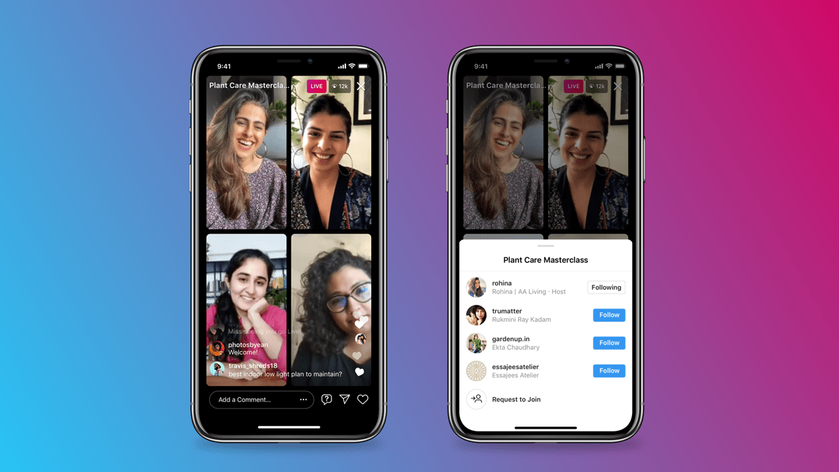 Livestreaming growth - Instagram example